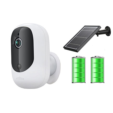 Solar Power Outdoor Waterproof  Battery Wireless IP Camera