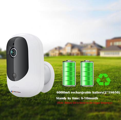 Solar Power Outdoor Waterproof  Battery Wireless IP Camera