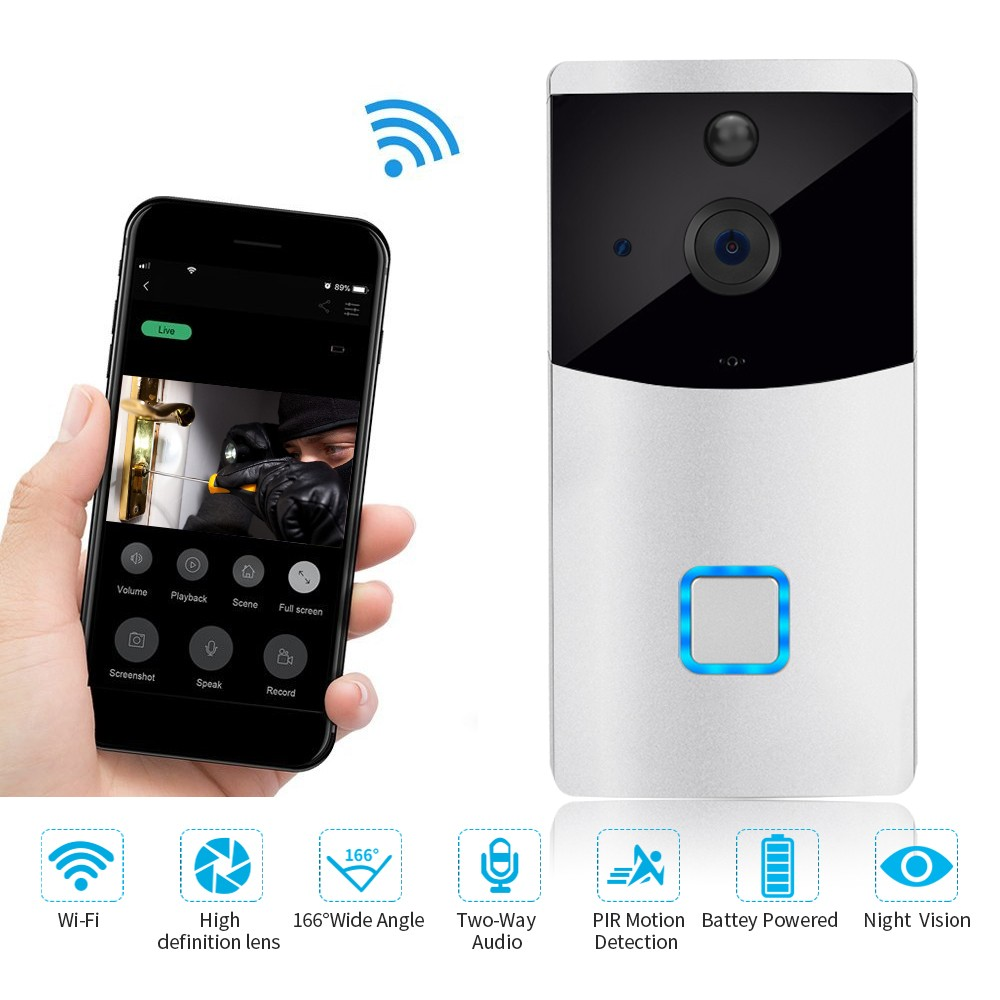Battery Powered HD Wire-free Doorbell Camera
