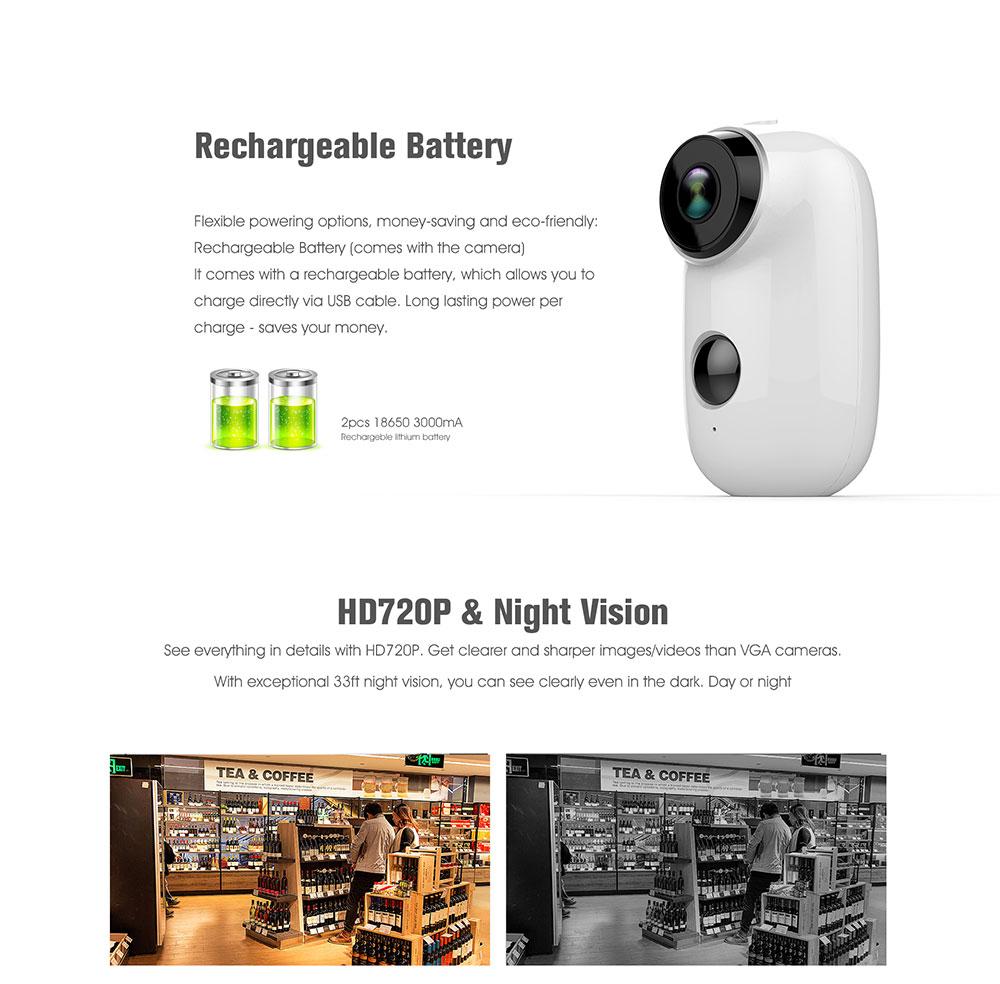 Q6 IP65 100% wireless Home Security IP Camera