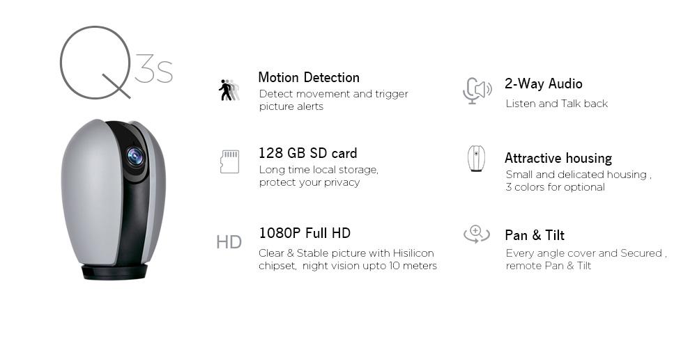 Q3s Smart Home PTZ WiFi Camera