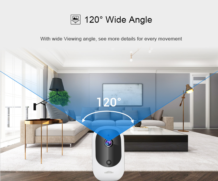 Solar Powered Rechargeable Battery Wireless IP Camera